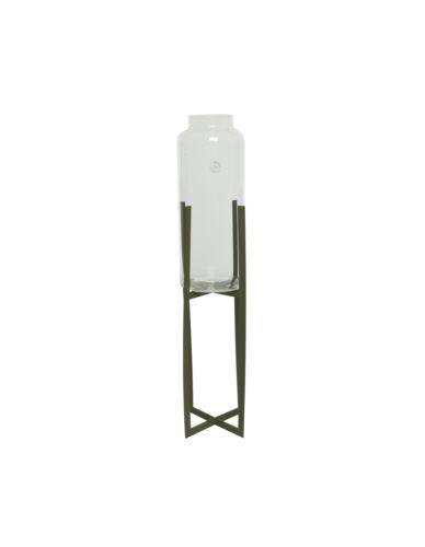 Wazon szklany na metalowym stojaku H93cm