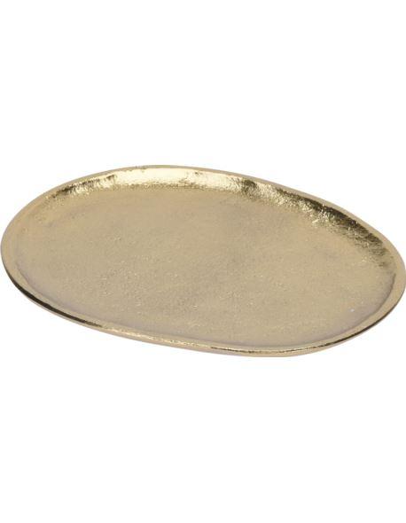 Taca Owal Alu złota D16cm