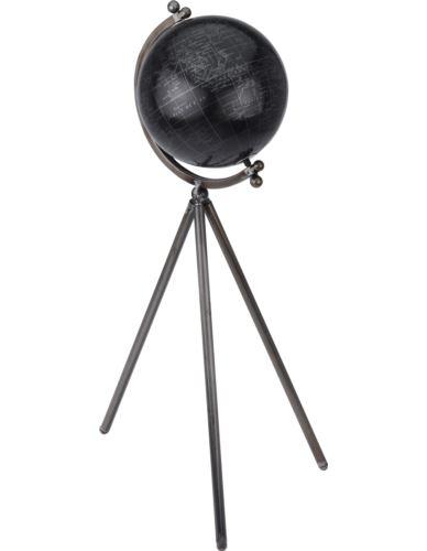 Globus czarny na stojaku wys. 57 cm