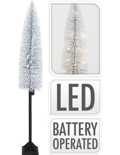Choinka ośnieżona H180 cm na nodze LED