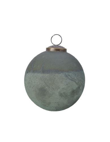 Bombka szkl. zielona kamień  D10cm