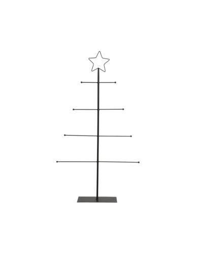 Choinka H90 cm Drut Płaska z gwiazdą