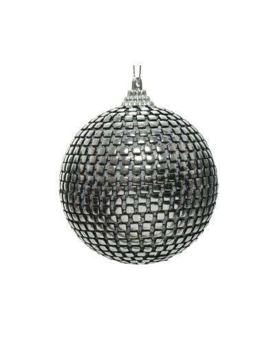 Bombka z gąbki srebrna blaszki H8cm