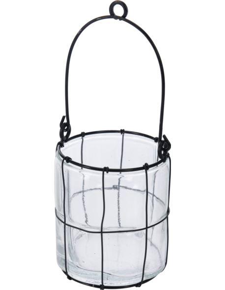 Lampion Szklany cylinder wiszący H12,5 cm