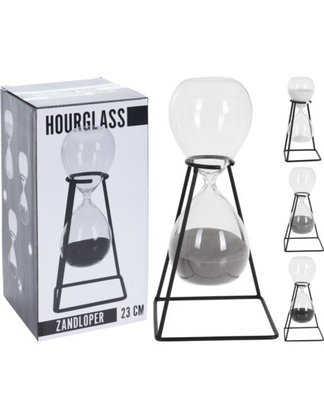 Klepsydra szklana na stojaku H23 cm