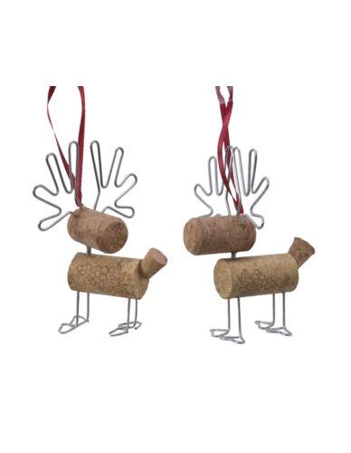Zawieszka z korka do wina  2 kształty jeleń
