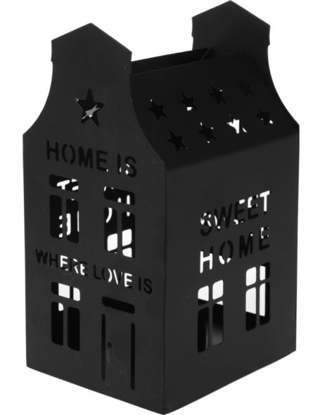Latarenka metalowa domek czarny