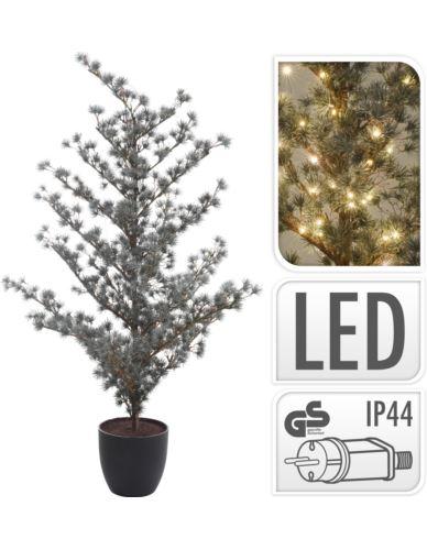 Drzewko modrzewia w doniczce H125 cm LED