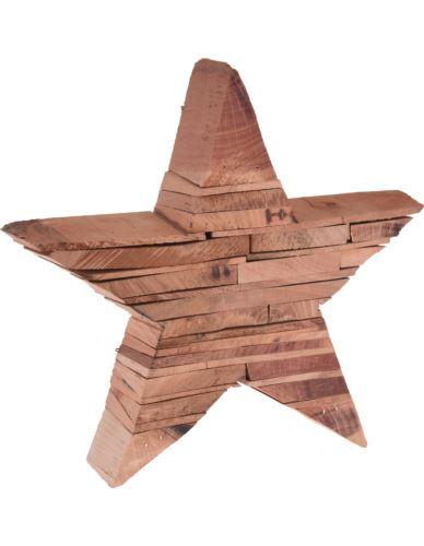 Gwiazda drewniana stojąca H25 x 5,5 cm