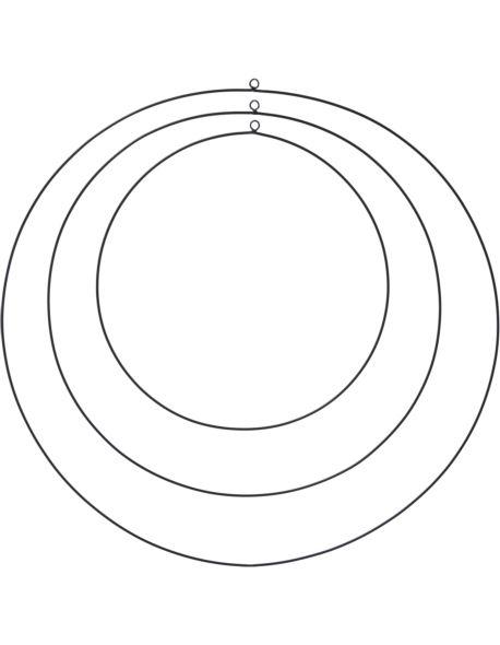 Obręcze metalowe czarne 30,40.50 cm