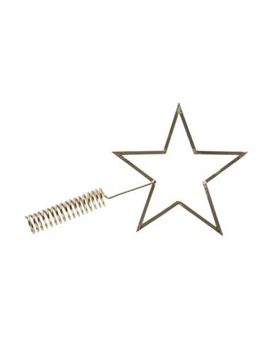 Gwiazda metalowa złota na czubek choinki
