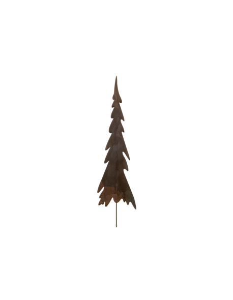 Choinka metalowa rdzewiona na piku_mała_H27cm