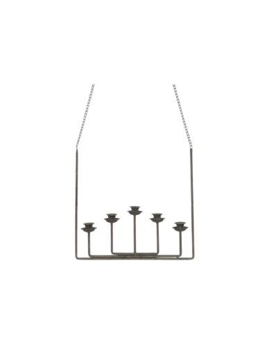 Świecznik metalowy wiszący 5 świec
