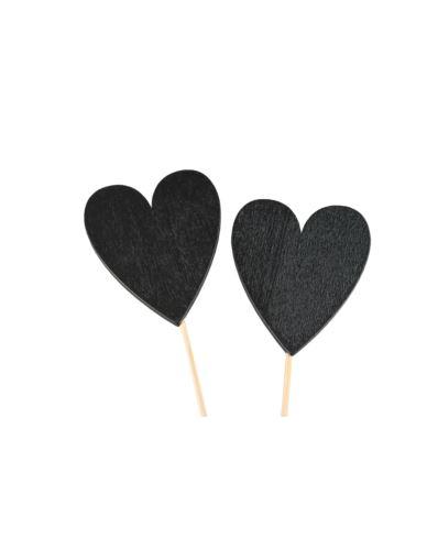Serce tablicówka na piku 6x4 cm