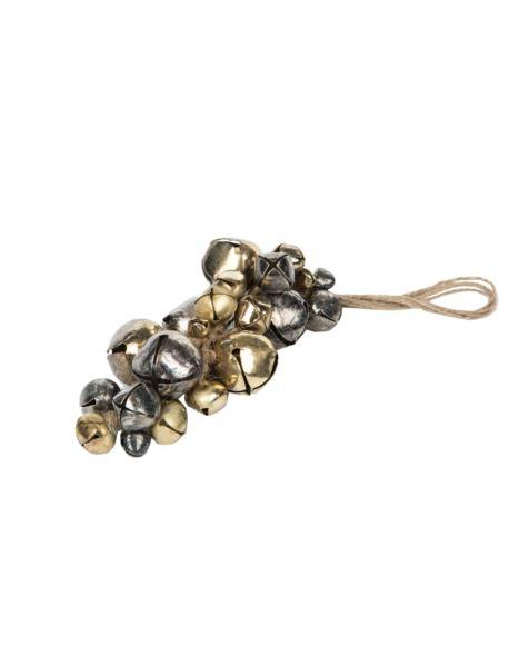 Dzwonki srebrno-złote na jucie