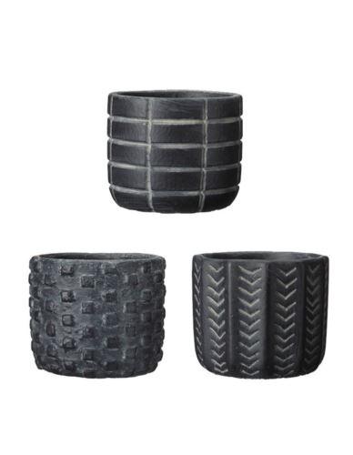 Doniczka betonowa Cylinder mini czarna mix
