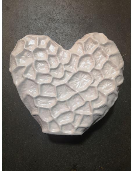 """Serce ceramiczne """"gniecione"""" H25cm"""