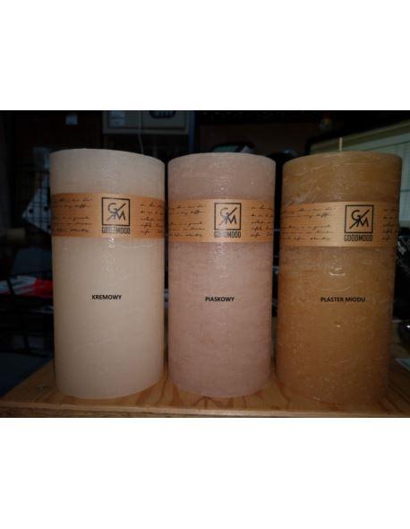 Świeca walec 200/100 mm plaster miodu