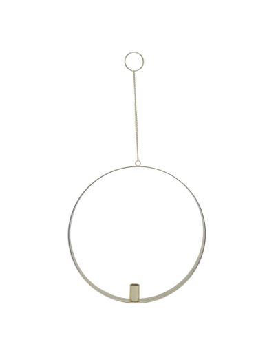 Świecznik metalowy koło 1 Świeczka Ołówek złoty