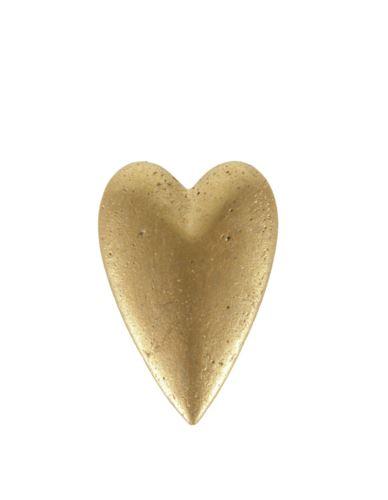 Dekoracja Serce betonowe złote małe