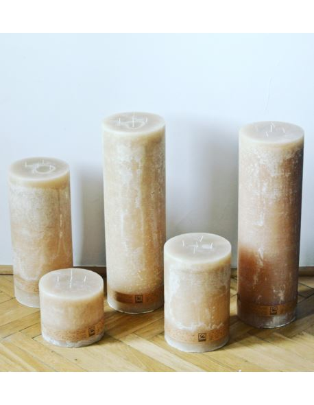 Świeca walec 130/100 mm plaster miodu
