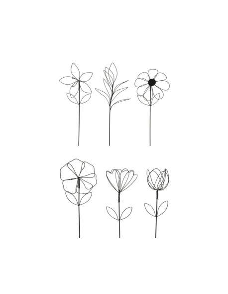 Druciany kwiat pojedynczy H30cm