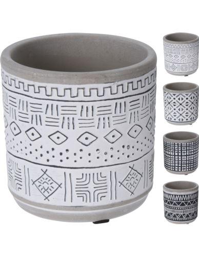 Doniczka ceramiczna Cylinder Wzorek