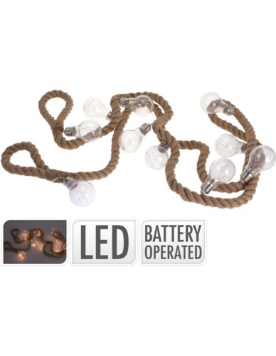 Girlanda żarówek 10 LED na linie