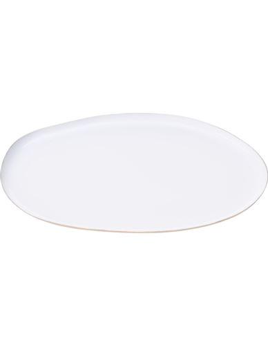 Taca Metalowa owalna biała 31 cm