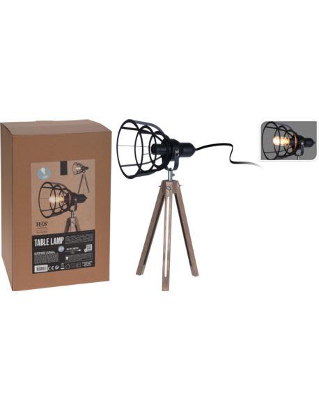 Lampa Stołowa Metalowa H57 Cm