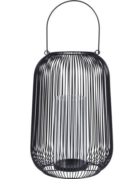 Lampion druciany owalny z rączką H33 cm