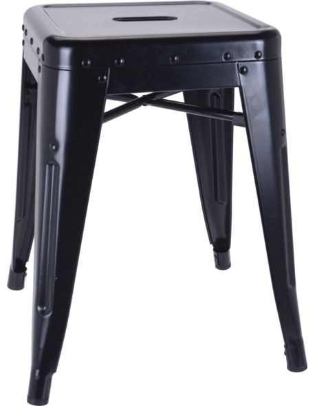 Stołek / Taboret metalowy loft czarny