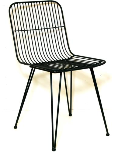 Krzesło metalowe czarne