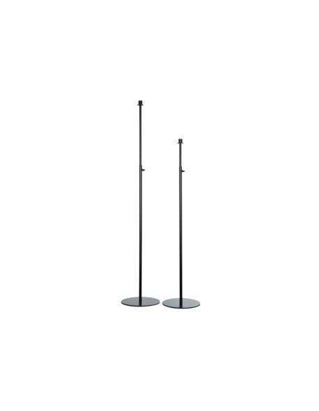 Świecznik Metalowy Rozsuwany Czarny H82-154cm