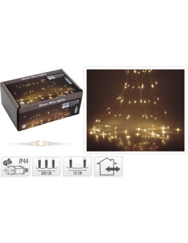 Drucik srebrny 300 LED (10-Żył)