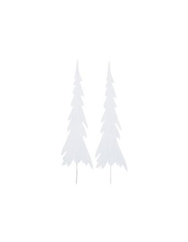 Choinka metalowa biała na piku_duża_H40cm
