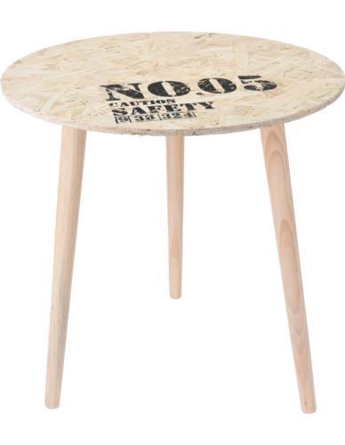 """Stolik drewniany z blatem OSB """"By Cargo"""" 50x49 cm"""