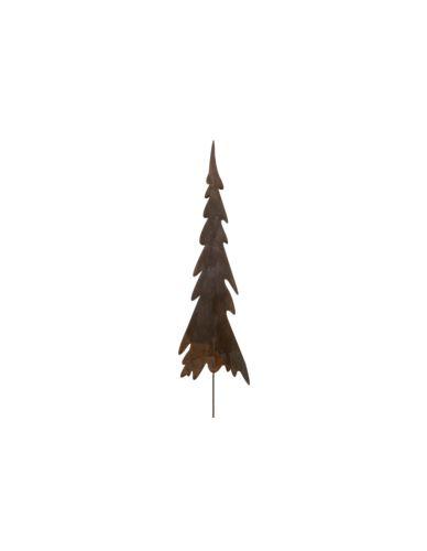 Choinka metalowa rdzewiona na piku_średnia_H33cm