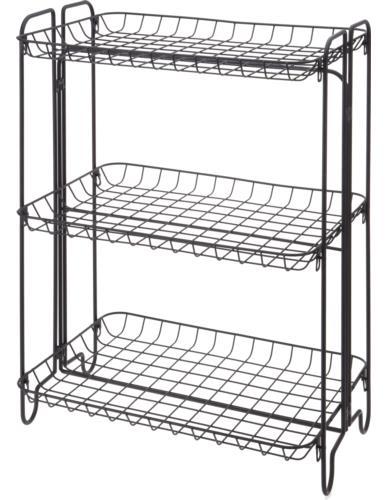 Regał metalowy 3-półki 49x33x64 cm