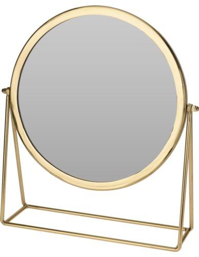 Lustro stojące na podstawie w złotej ramie