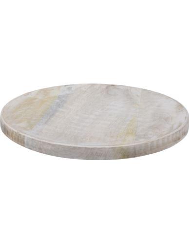 Podstawka Okrągła Mango bielone D30cm