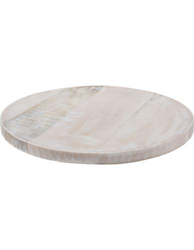 Podstawka Okrągła Mango bielone D22cm