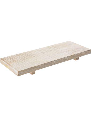 Deska drewniana bielona prostokąt 30,5X15,5 cm