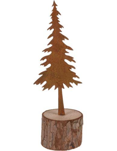Choinka rdzewiona na podstawie 15 cm