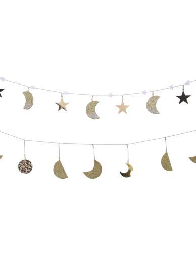 Girlanda metalowa księżyc/gwiazda 115 cm