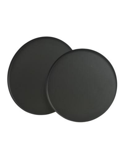 Taca Metalowa czarny mat D35cm