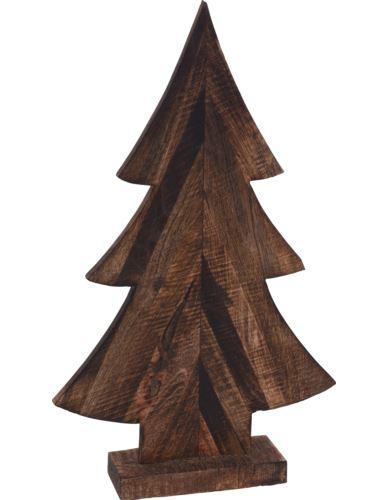 Choinka na podstawie H32 cm palone drewno mango