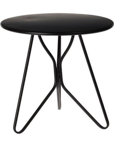 Stolik Metalowy okragły czarny 30x29 cm