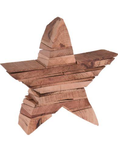 Gwiazda drewniana stojąca H15 x 5,5 cm