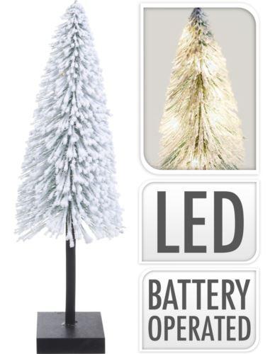 Choinka na podstawie Ośnieżona 50cm LED